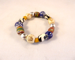 African bead and Buddha bead necklace