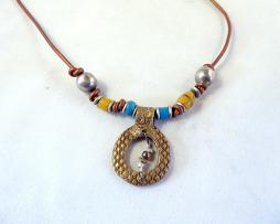 hand made brass eternity necklace