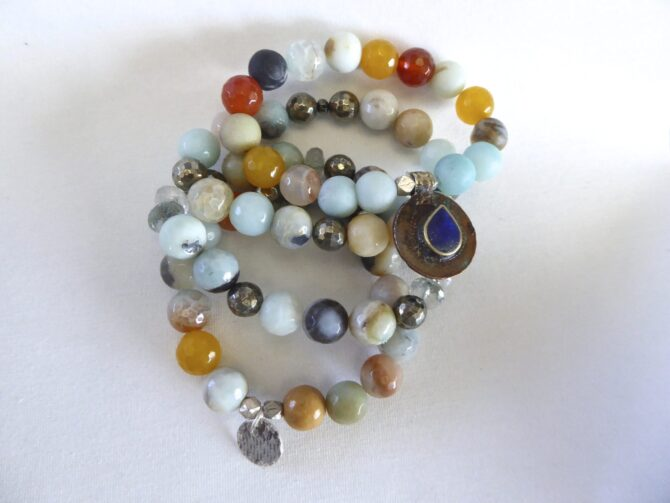 Faceted and Flat Rondelle Bracelets