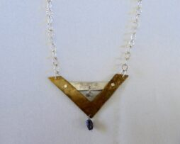 Necklace with gold charm