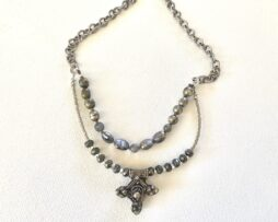 Double strand ornament necklace